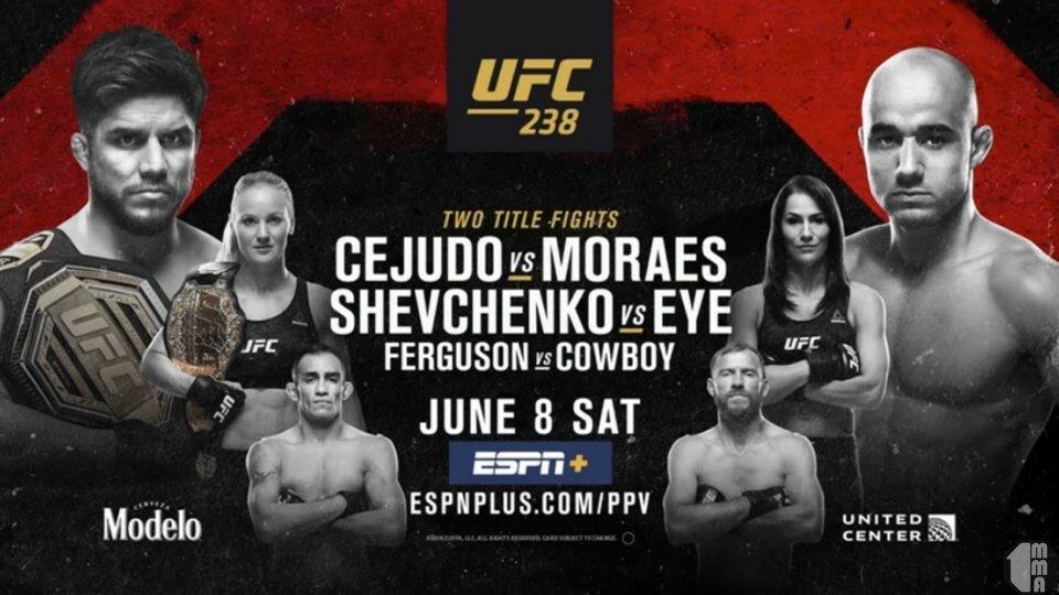Трансляция UFC 238 Cejudo vs. Moraes